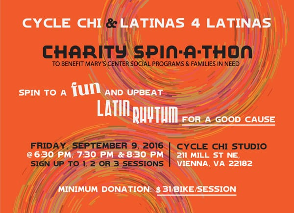 Charity Spin-A-Thon, Cycle Chi & Latinas 4 Latinas
