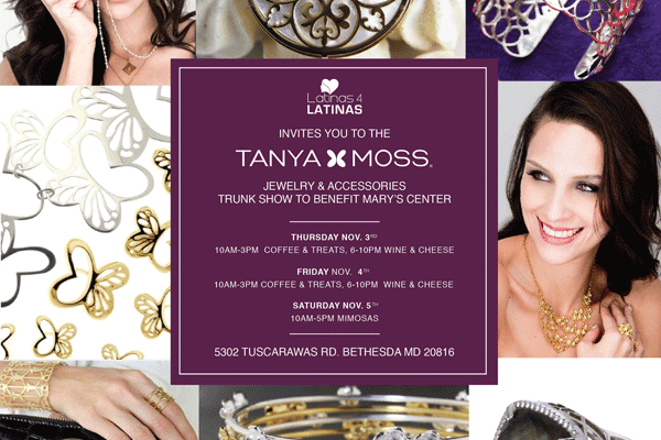 Latinas 4 Latinas Jewelry Trunk Show Fundraiser with Tanya Moss USA