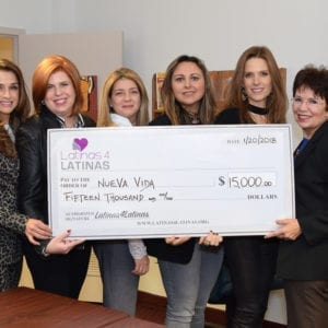 Latinas 4 Latinas Gives $15,000 to Nueva Vida
