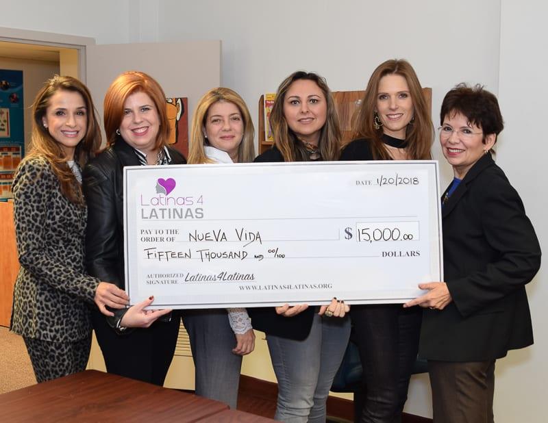 Latinas 4 Latinas Gives $15,000 to Nueva Vida