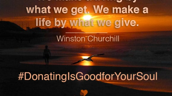 Why Donating is Good for Your Soul