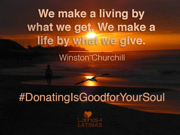 Donating is good for the soul